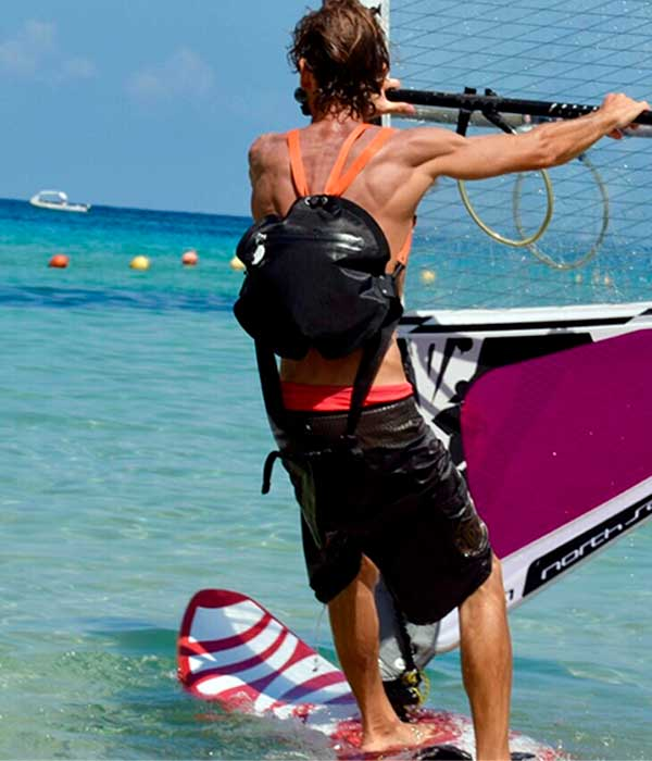 Seabag black in windsurf